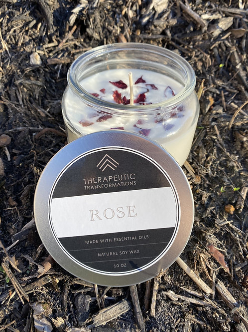 Rose Organic Candle 10oz