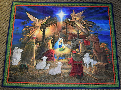 Hand Quilted Nativity Wall Hanging