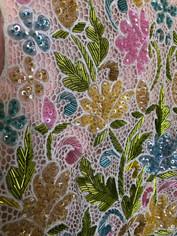 Hand Beaded Vintage Dress Close Up