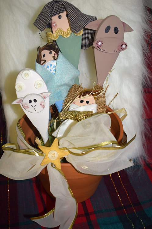 Hand-painted Kitchen Nativity