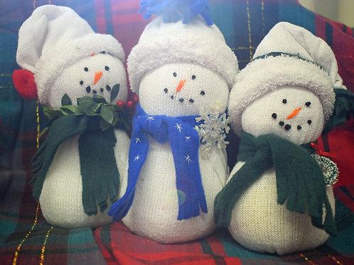 Handmade Sock Snowmen