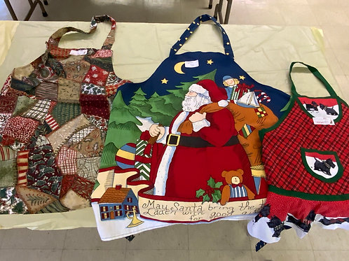 Holiday Aprons (over the neck)