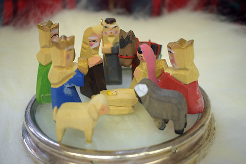 Carved and Hand-painted Mini-Nativity