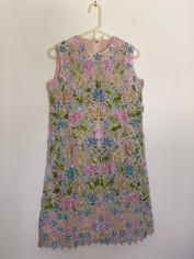 Hand Beaded Vintage Dress Other Side