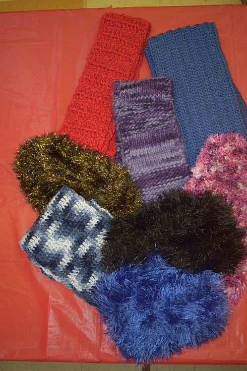 Hand-knit Headbands in Various Colors