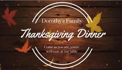 Thanksgiving Dinner - November