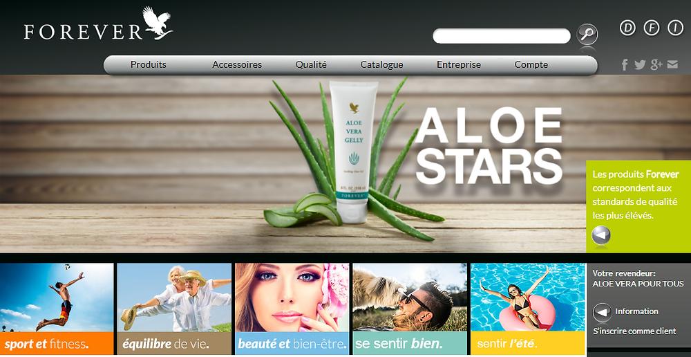 Boutique en ligne client Forever Suisse, Online Shop, be-Forever.ch