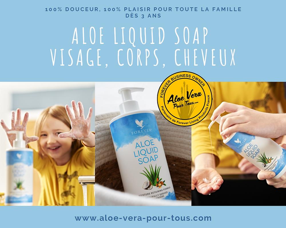 Aloe Liquid Soap | Visage, Corps, Cheveux