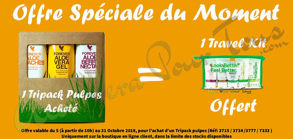 Offre spéciale tripack pulpes d'aloe vera