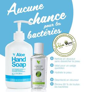 Aloe Hand Sopa |  Środek do dezynfekcji rąk Forever |  Pranie ręczne |  Bakterie |  Mikroby |  Wirus |  Żel wodno-alkoholowy