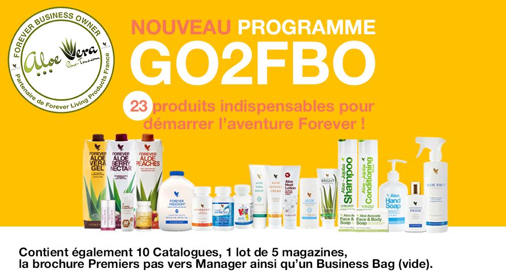 Produits GO 2 FBO Forever France 2019