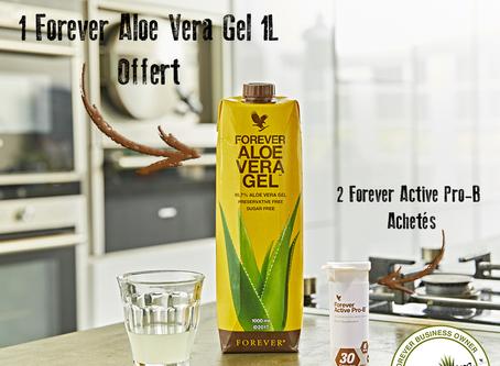 Promotion | 2 Active Pro-B achetés = 1 Forever Aloe Vera Gel Offert
