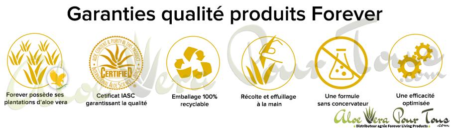Garantie qualité produits Forever