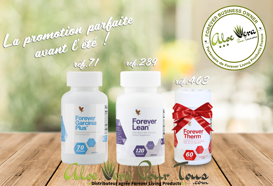 Offre de printemps Forever: Garcinia + Lean = Forever Therm Offert