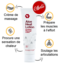 Aloe Heat Lotion, Lotion Thermogène, offre de printemps Forever