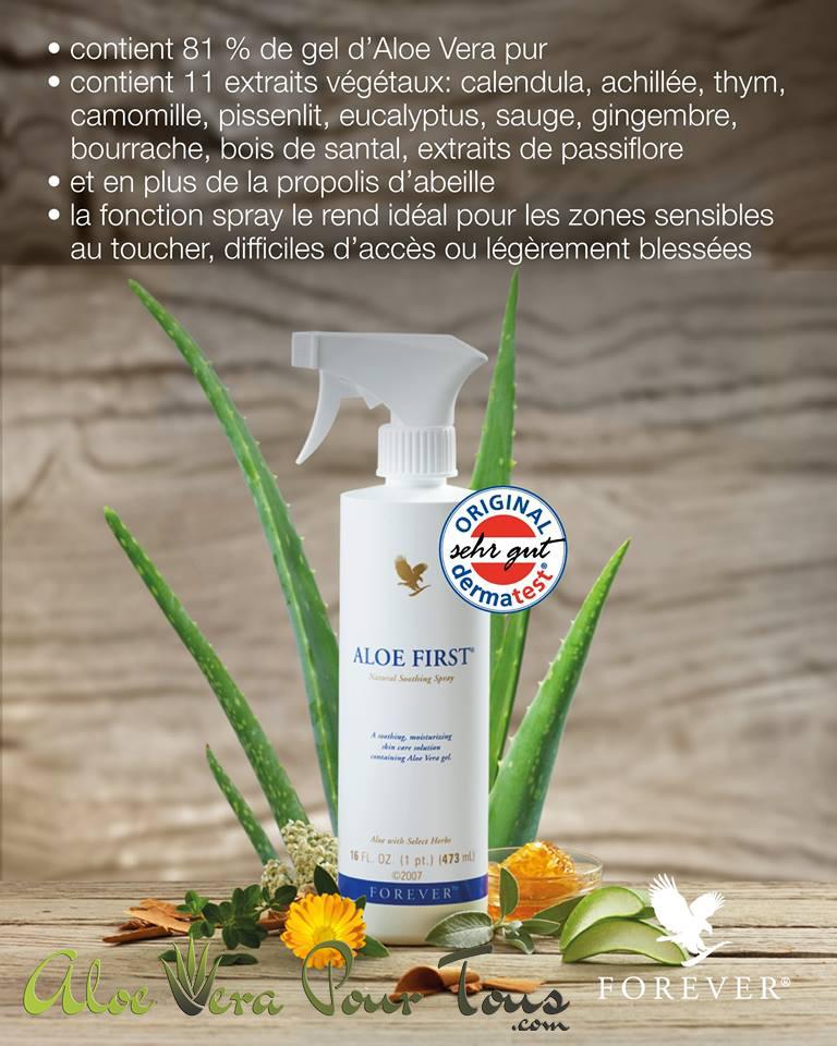 Forever Aloe First | Brume aloe vera et propolis | Spray