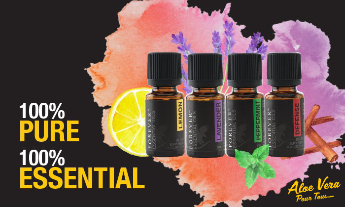 Huiles Essentielle Forever   Pure, Essential   100%   Citron, Lavande, Menthe Poivrée, Défense