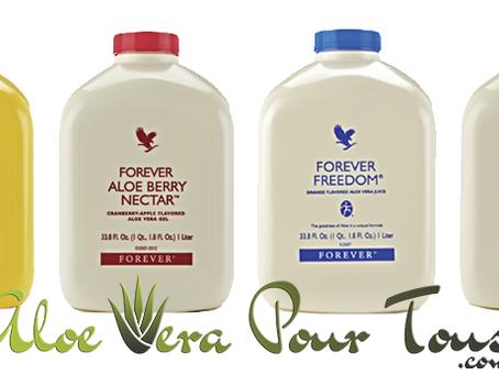 Les 4 pulpes d'Aloe Vera Forever, quelles différences entre elles ?