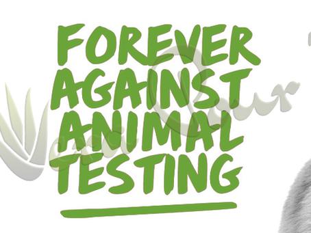 Les produits Forever ne sont pas testés sur les animaux.