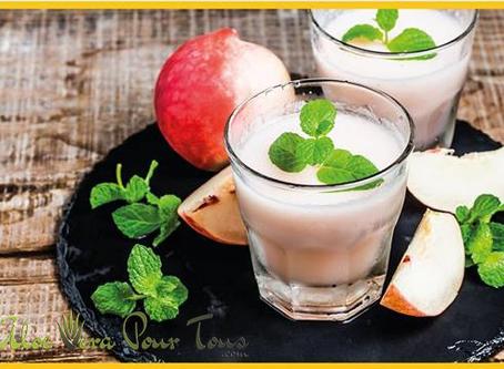 Idée recette #1 Smoothie pêche-pomme et Aloe Vera Forever !