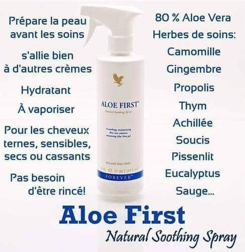 Propriétés Forever Aloe First   Bénéfices
