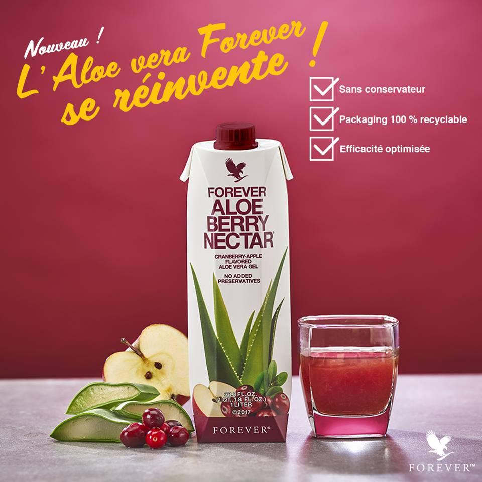 Aloe berry nectar Forever contre les fibromes