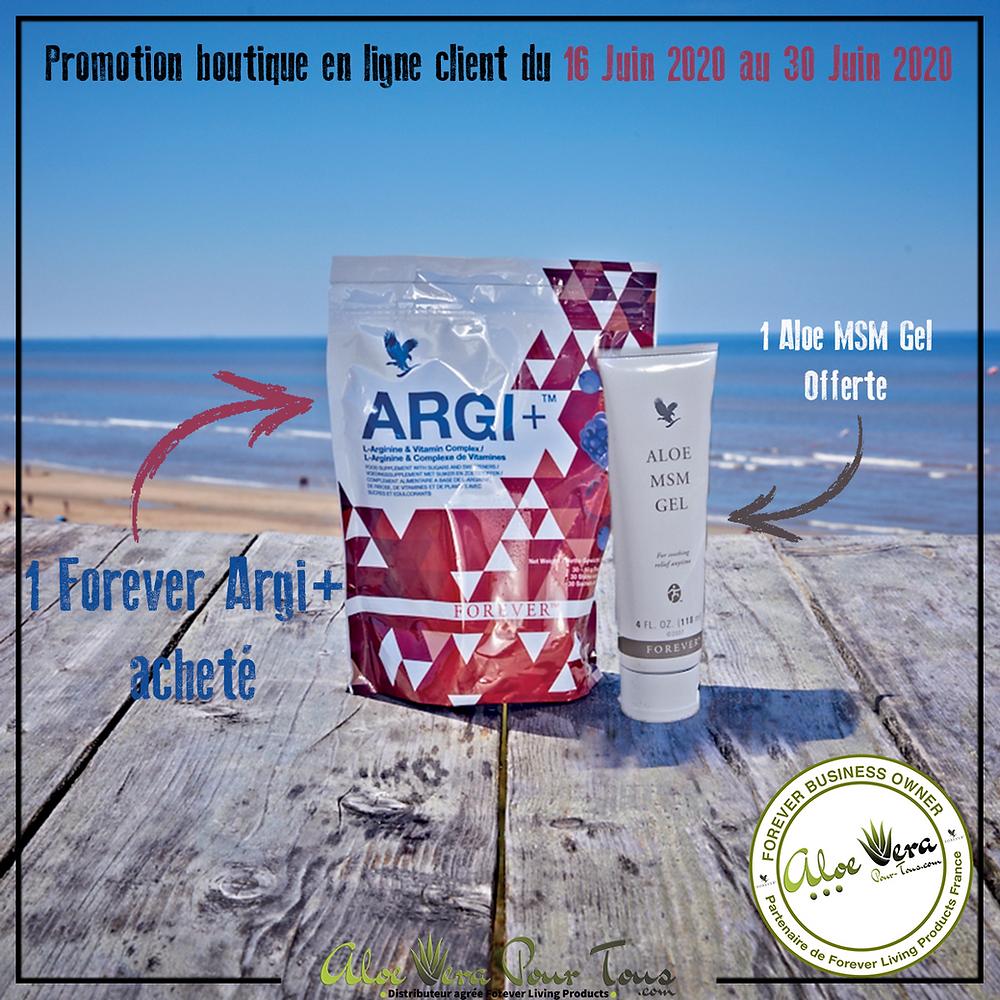 Promotion Forever Argi+ | 1 Aloe MSM Gel Offerte