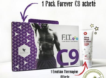 Promotion   1 Pack C9 acheté = 1 Aloe Heat Lotion Offerte