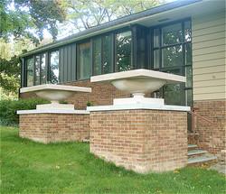 Frank Lloyd Wright planters, Ithaca