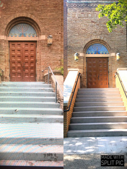 Before after Temple Beth El