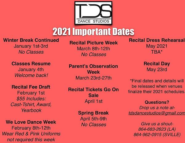 Semester II 2021 Important Dates_ Calend