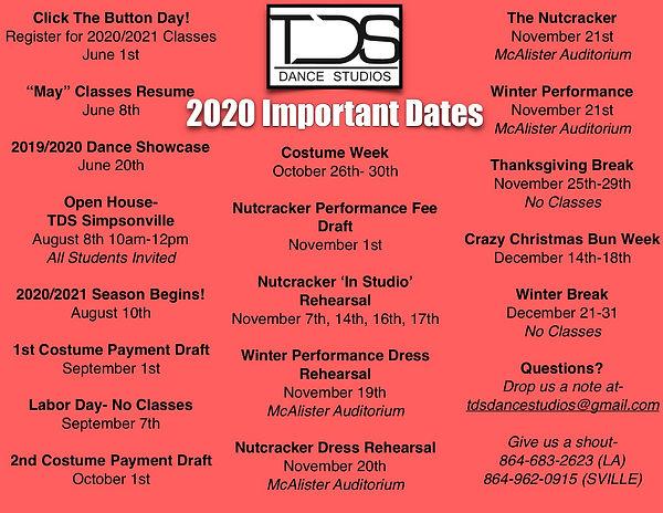 Semester I 2020 Important Dates_ Calenda