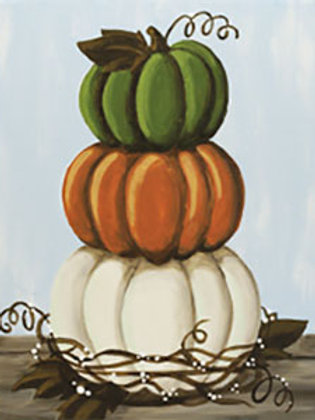 Stacked Pumpkins