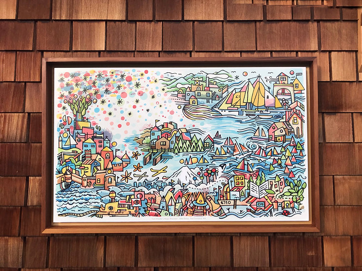 Fort Wonder's Magic Mountain Reproduction - Large Framed