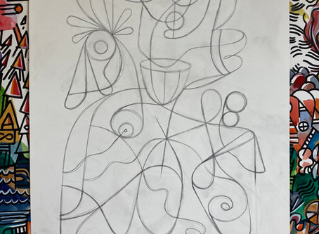 Pencil sketch for new painting...