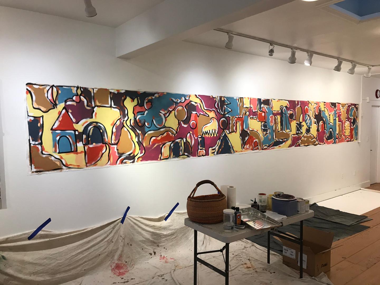 Mural at PTSA