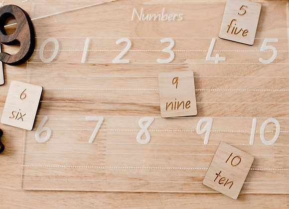 Numbers Trace and Wipe Board