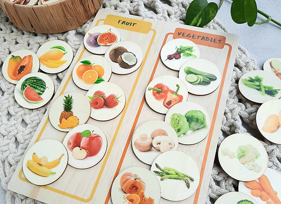 Fruit and Vegetable Sorting Board