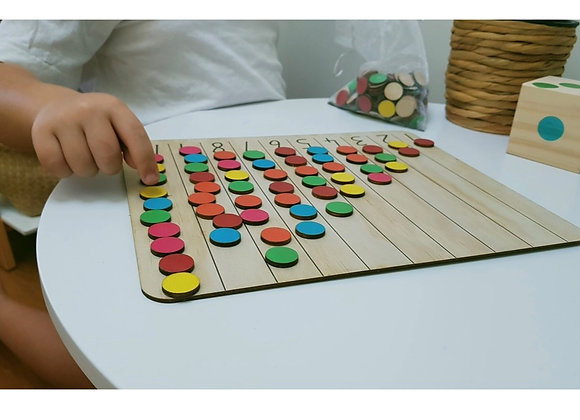 Double Sided Maths Counting Board