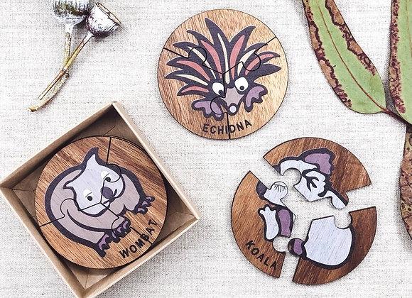 Australian themed three piece puzzle sets