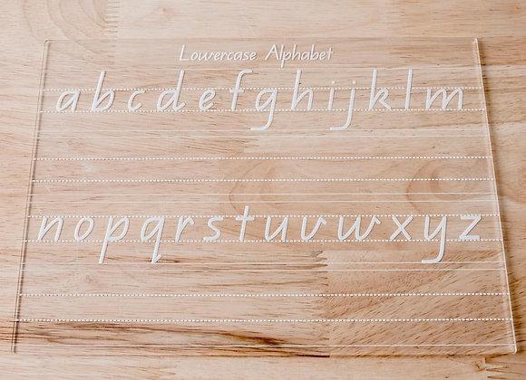 Alphabet Wipe & Trace Board