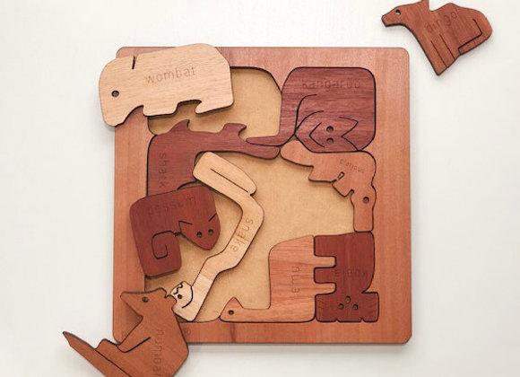 Australian Animal Square Puzzle