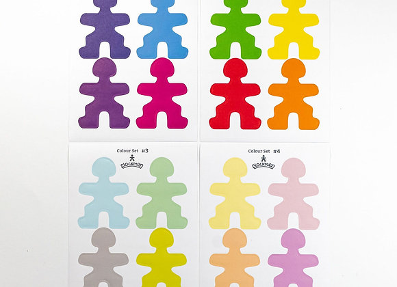 Flockmen Creative Sticker Sets 16 pieces