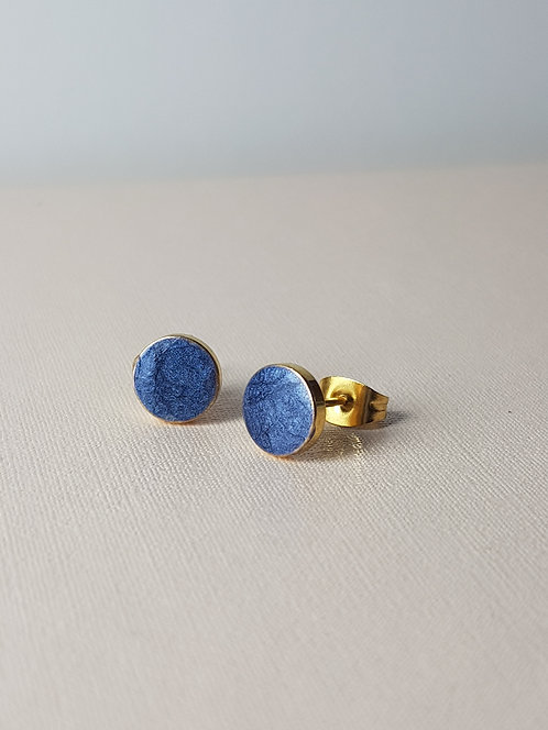 Royal Blue Round Studs
