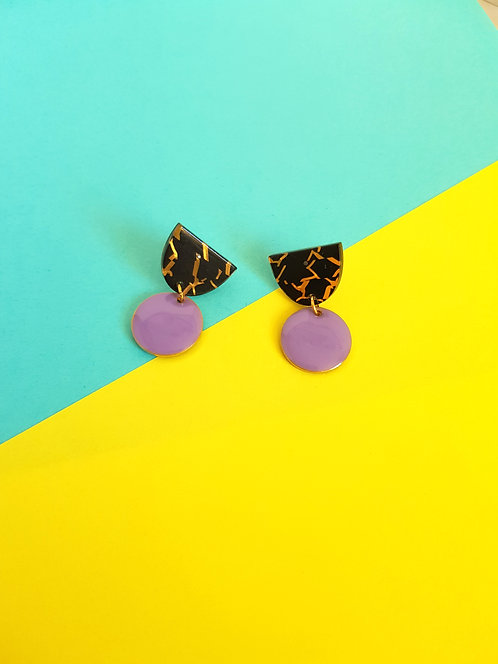 Isabelle Earrings - Purple