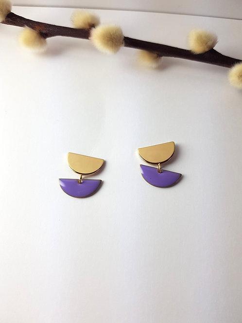 Anna Earrings - Purple