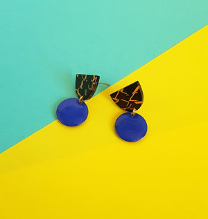 Isabelle Earrings - Dark Blue