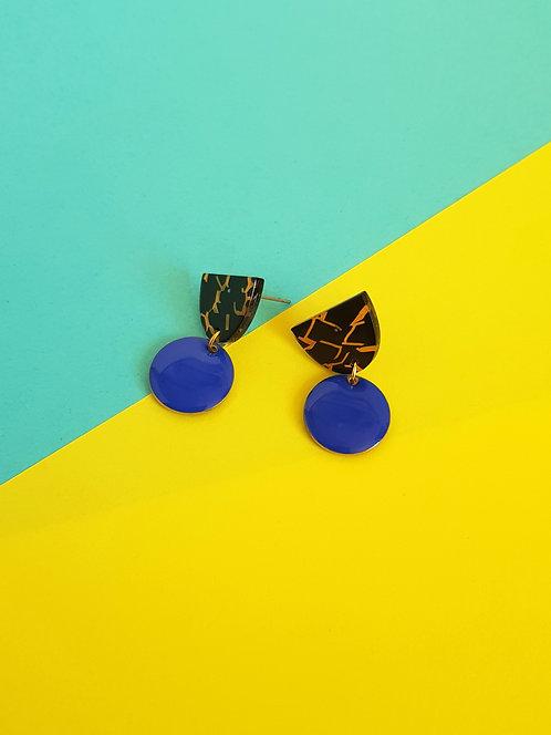 Isabelle Earrings - Dark Blue