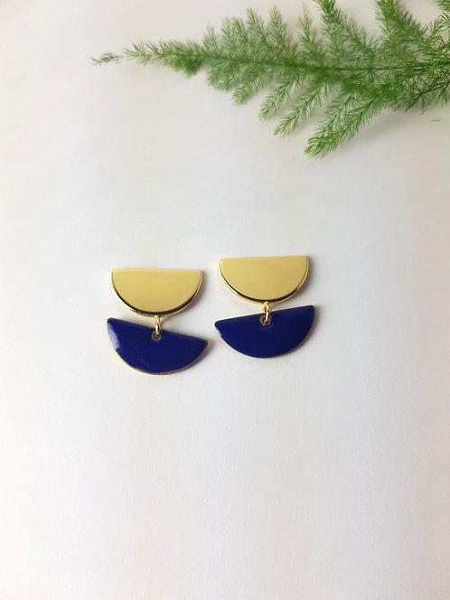 Anna Earrings - Dark Blue