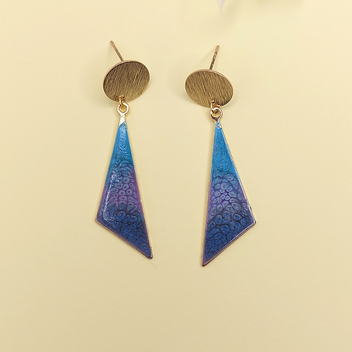 Gemma Earrings - Peacock